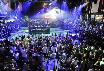 party-goers in Ibiza rave all night at Privilege nightclub's closing party
