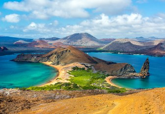 the galapgos islands are an amazing place to charter as practically no one lives there, making it an ideal destination for a self isolating yacht charter vacation