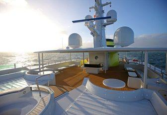 luxury yacht yersin alfresco deck areas