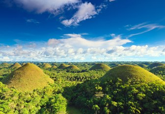 spectacular Chocolate Hills in Bohol, the Philippines