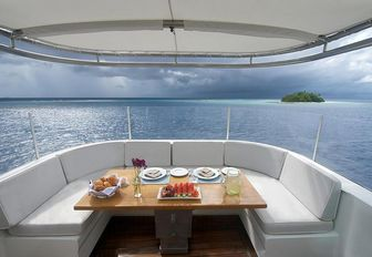the view from charter yacht SENSES
