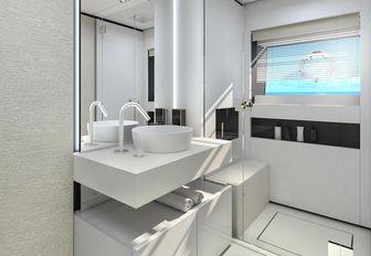 en-suite bathroom aboard superyacht December Six