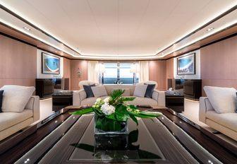 The interior of superyacht O'PTASIA