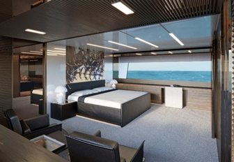 The guest accommodation featured on board luxury yacht Seven Sins