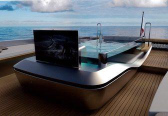 Swimming pool onboard MY Panam