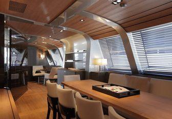 Dining area on board seahawk