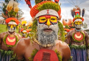 Tribes at the Mt Hagen cultural show in Papua New Guinea
