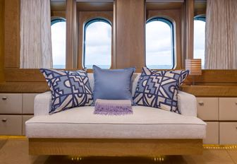 Comfortable seat in front of windon on Superyacht BACA