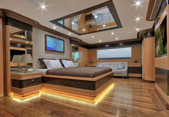 luxurious master suite on board charter yacht MEIRA