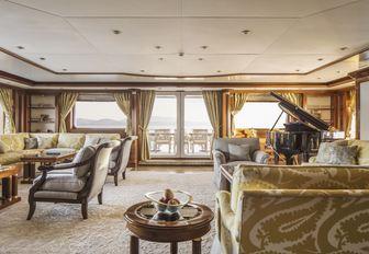 grand main salon aboard charter yacht TITANIA