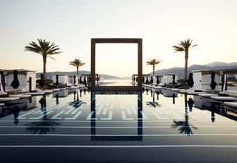 infinity pool in Porto Montenegro, Tivat, Bay of Kotor