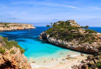 white sandy beach in Ibiza