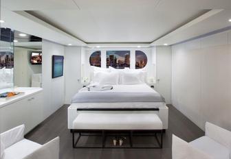 A stateroom in superyacht BG