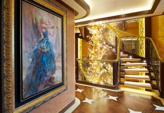 Interiors of yacht from SUCCESSION