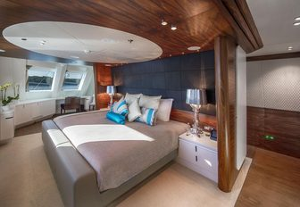 one of two VIP suites on board charter yacht KATINA