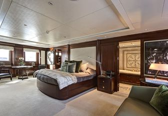 large master suite on board charter yacht Azteca II