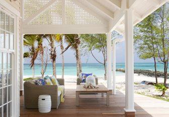 private terrace adjoining villa accommodation on thanda island