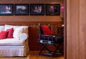 Chair and sofa on superyacht Bleu De Nimes