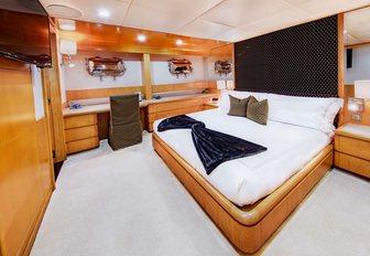 spacious and sleek cabin with en-suit bathroom in luxury supercharge island heiress