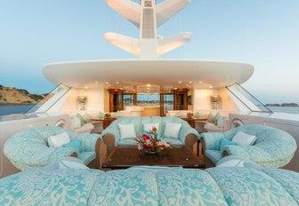 The sundeck of luxury yacht CALLISTO
