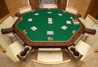 wheels superyacht blackjack table on yacht