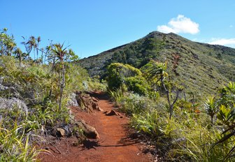 Sunny landscape, mountains around Mont-Dore, New Caledonia, South Pacific Ocean