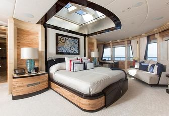 One of the guest cabins available on board charter yacht EXCELLENCE V