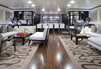 New interior on Mirage Yacht makes a unique charter yacht