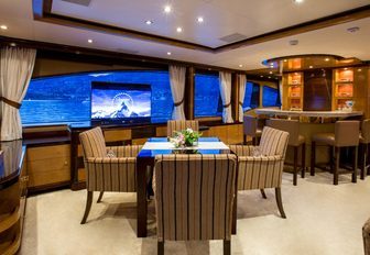 Skylounge on charter yacht DIANE