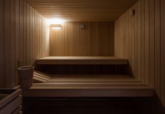 Sauna on superyacht O'PARI