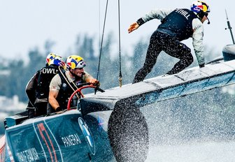 Oracle Team USA in action at America's Cup World Series