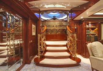Staircase on superyacht St David