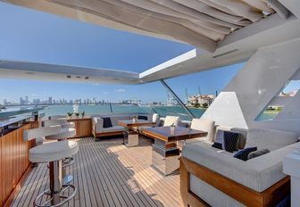 bar and luxe lounging aboard luxury yacht Drew