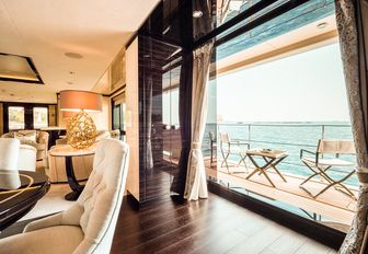 guest suite on charter yacht elixir