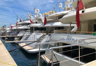 Charter yachts gather for the Monaco Grand Prix 2018 photo 2
