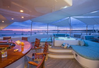 Sundeck on rented yacht Ohana for Below Deck series 2