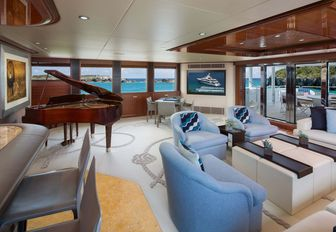superyacht time for us also boasts a grand piano that makes any social gathering all the better