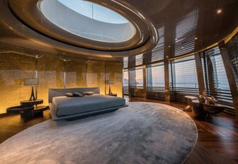 A guest cabin on board Feadship superyacht SAVANNAH