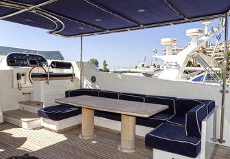 The exterior of superyacht HARMONYA