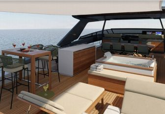 sundeck on board superyacht noor ii