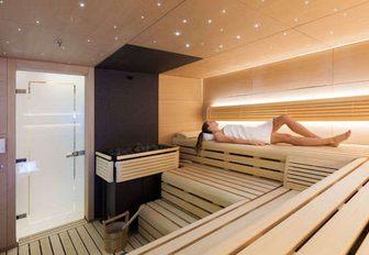 Solandge superyacht sauna
