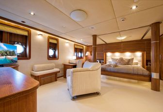 vip suite on superyacht sherakhan