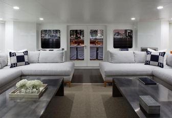 Interiors of charter yacht VALOR