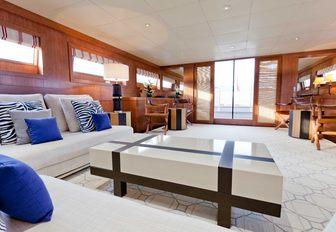Main salon on luxury yacht ELEMENT