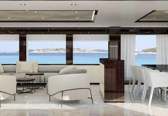 Main salon of happy me yacht