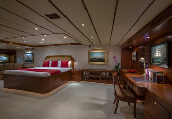 expansive master suite aboard luxury yacht 'Northern Sun'