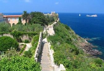 citadel walls around Ajaccio, Napoleon's birthplace, in Corsica