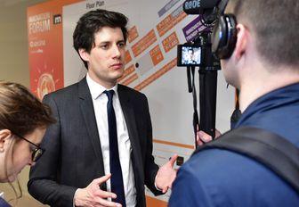MIPIM attendee being interviewed on camera