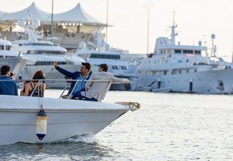 People onboard Abu Dhabi motor yacht