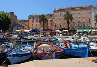 local fishing boats in Ajaccio harbour